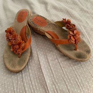 BOC orange flower sandals